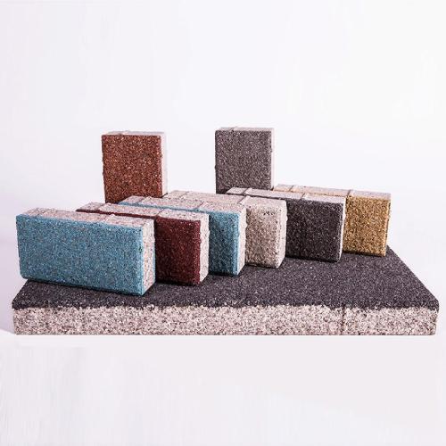 彩色生态陶瓷透水砖