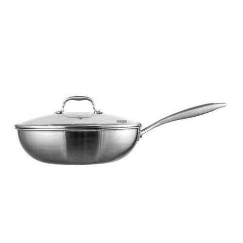 陕西纯钛炒锅 三层复合钛锅
