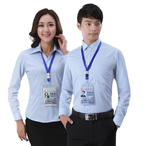 西安工作服定制 定制男士衬衣 男式衬衣 男女衬衣工装批发厂家
