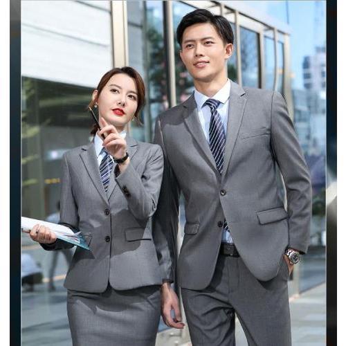 西安男女职业装定制 男士商务休闲西服套装批发 女款高定西装订做