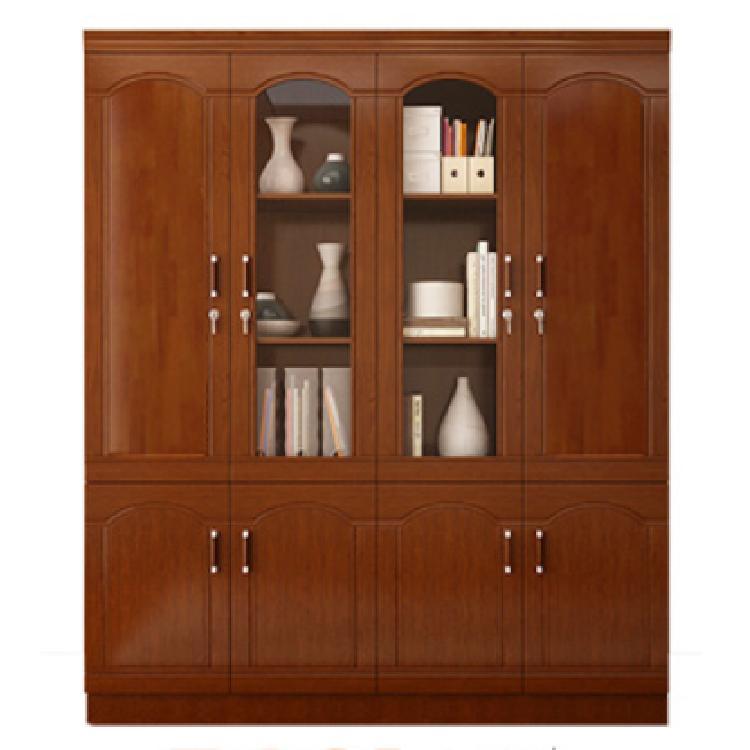 贵州木质文件柜办公室双开门资料档案柜书柜带锁家用收长90*高190*深30