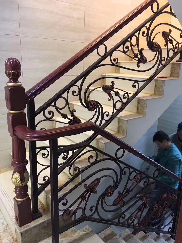 铁艺楼梯扶手 旋转楼梯