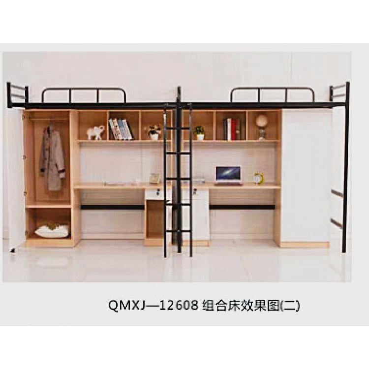 贵州厂家供应QMXJ—11501公寓组合床规格4000*850*2000mm校具设备宿舍组合床