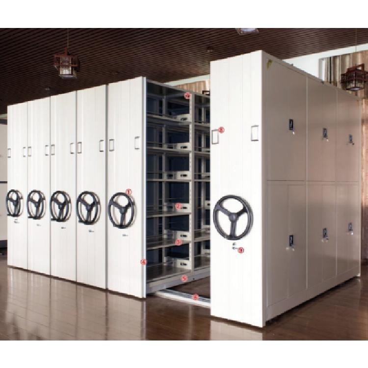 贵州手动密集架档案柜资料柜文件柜铁皮柜一列六组每立方单价
