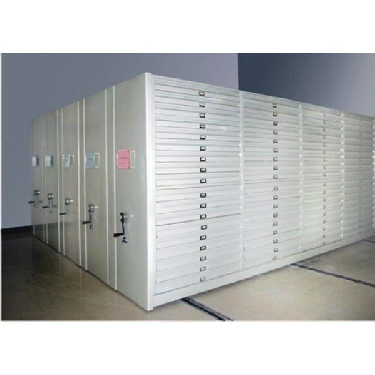 贵州底图密集架手摇式图纸柜智能电动型轨道密集柜0号1号抽屉柜0号