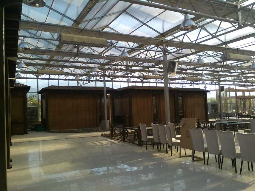 陕西鼎泰鑫  温室餐厅 定制连栋温室大棚 生态餐厅温室