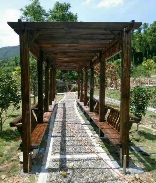 贵州葡萄架防腐木屋凉亭实木花架户外家具庭院桌椅花园爬藤架