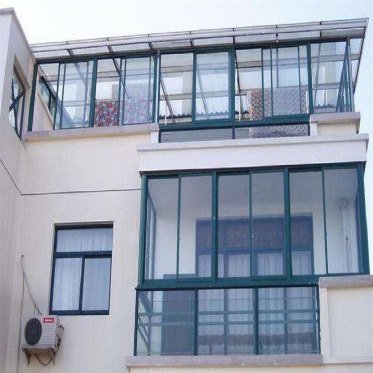 贵州断桥铝铝合金门窗加装PVB夹胶三层玻璃窗户断桥铝70平开窗铝阳光房