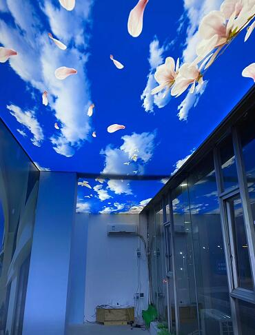 遵义蓝专业供应安装规格1-5蓝天白云软膜厂家现货批发软膜天花厂家直供