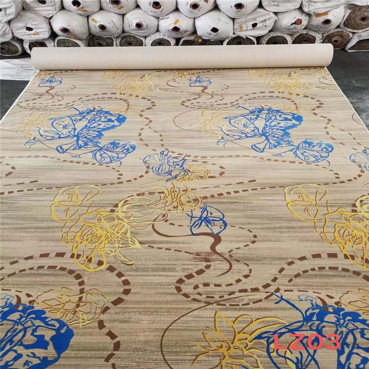 天雅地毯海量现货酒店地毯 满铺尼龙印花地毯 简约地毯批发