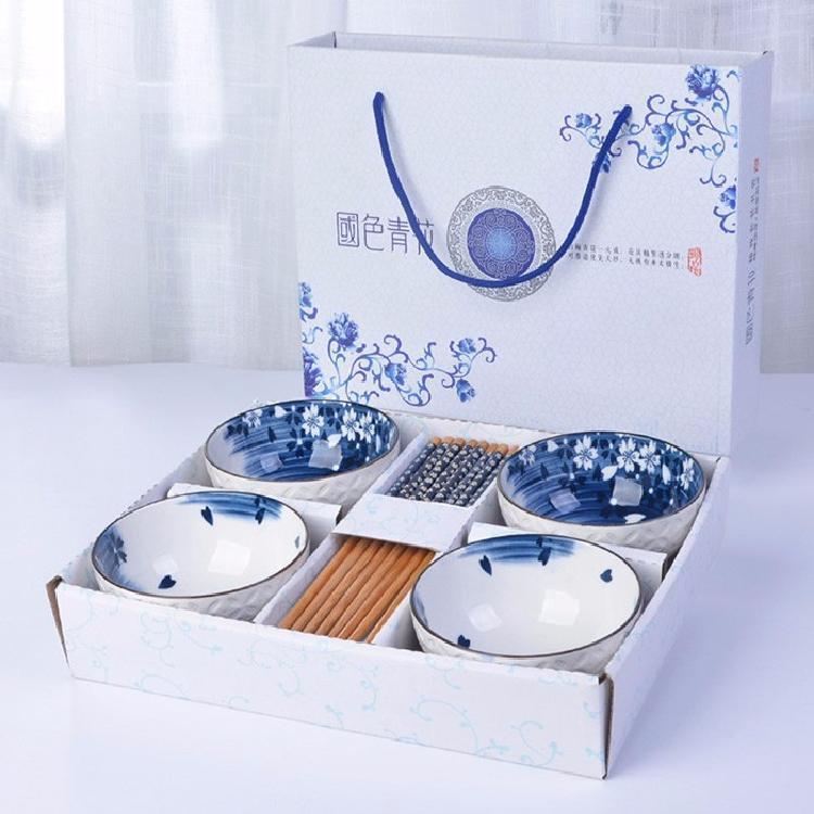 家用吃饭碗青花瓷碗