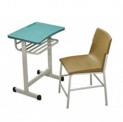 西安学校家具 单人课桌椅 课桌椅批发