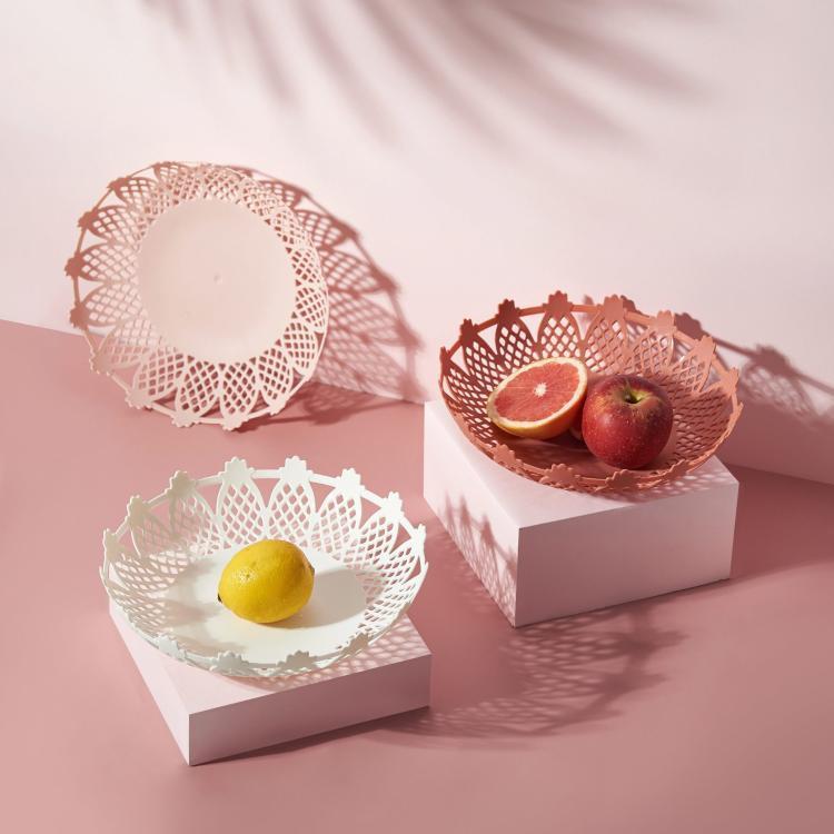 水果盘 北欧干果盘个性现代客厅水果碗家用塑料零食盘