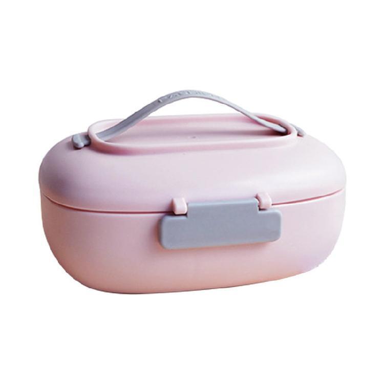【梵施】日式创意简约纯色饭盒隔层分离保鲜盒单层