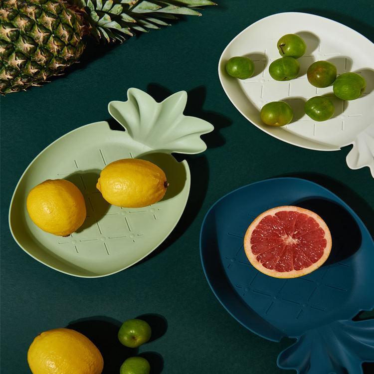 塑料果盘 可爱果盘热带风格北欧菜盘水果状盘子