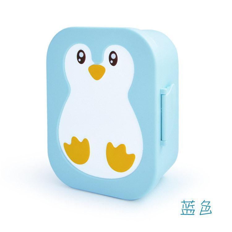 【梵施】企鹅饭盒 可爱动物卡通饭盒儿童饭盒塑胶饭盒 F950