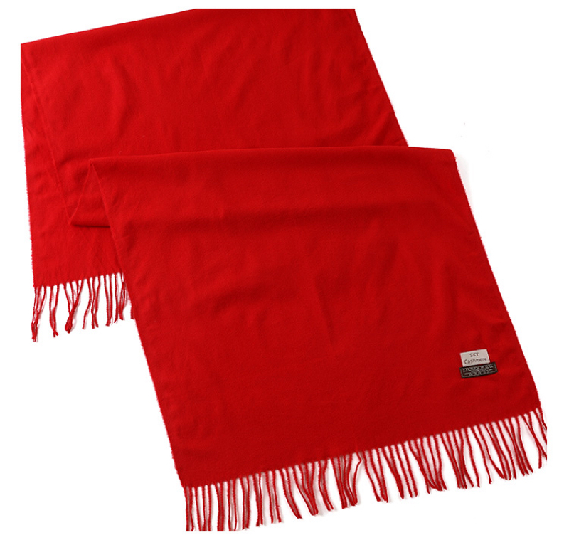 大红色年会专用围巾  秋冬围巾