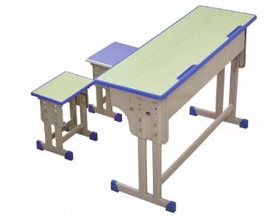 学习桌椅定制 双人课桌椅 课桌厂家直销 西安双人课桌椅