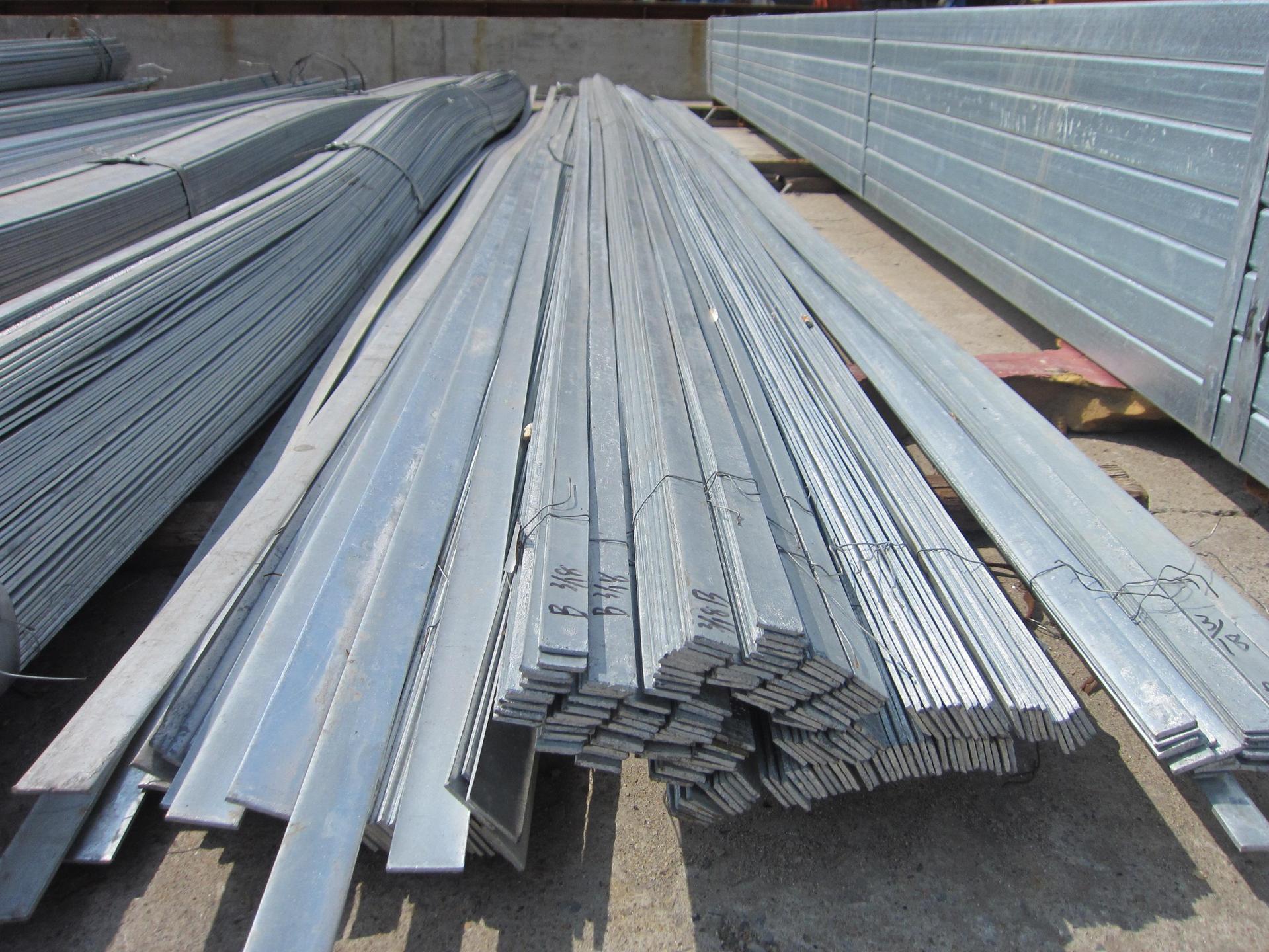 西安扁钢批发  热镀锌扁钢角钢槽钢国标非标Q235角钢80*8