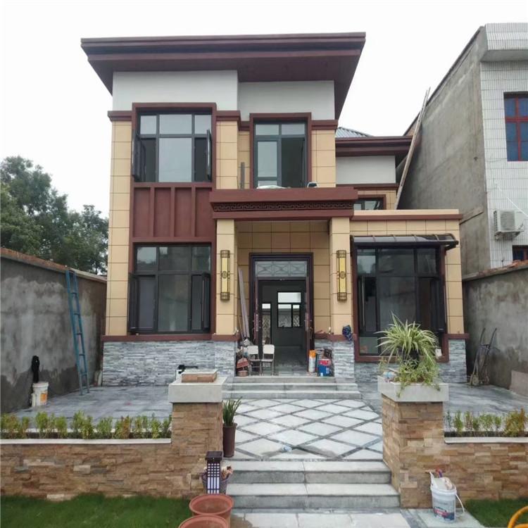 韩城二层重轻钢别墅 重轻钢结合轻钢别墅 接层轻钢结构房屋美观