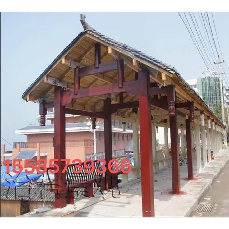 贵州古建长廊 贵阳防腐木实木长廊专业定制设计