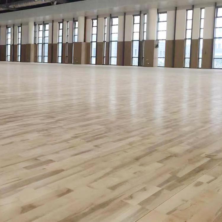 厂家供应运动木地板 民都实业 羽毛球馆运动木地板 质优价廉