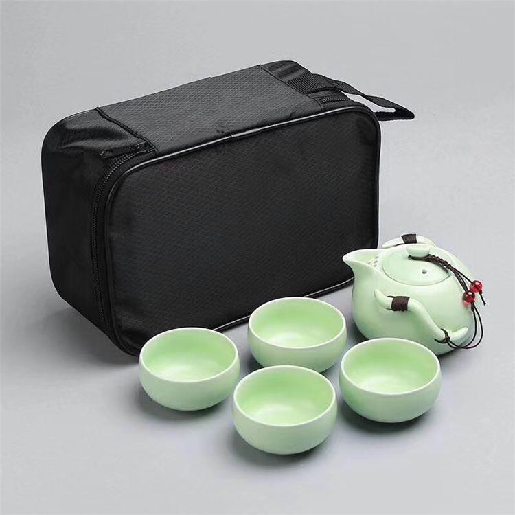 定制茶具 定窑1壶4杯旅行茶具