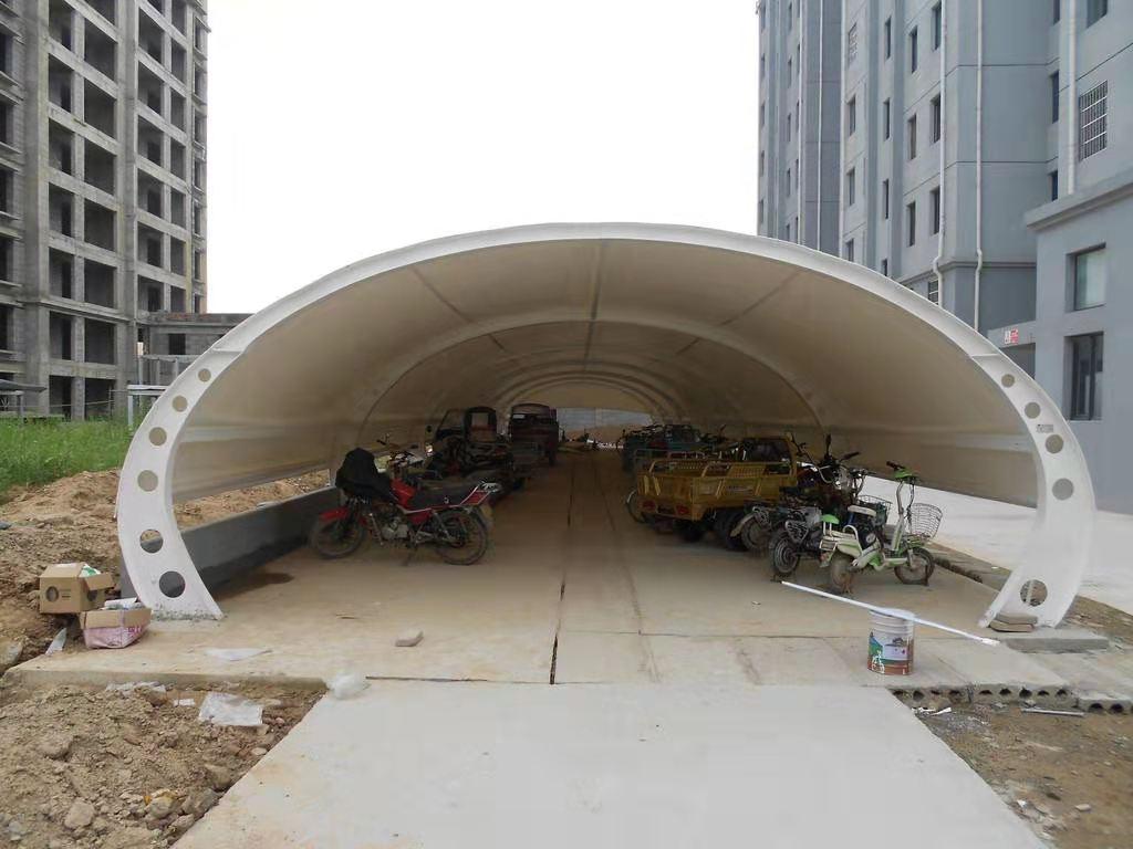 汽车膜结构停车棚 膜结构工程  汽车停车棚