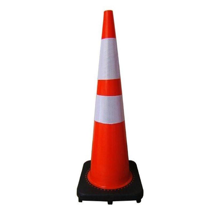 厂家直销 反光交通安全警示路障雪糕筒 优质橡胶塑料路锥