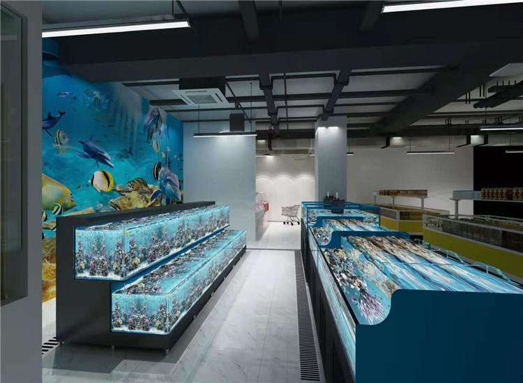 饭店海鲜池 贵州鱼缸海鲜池定做批发商