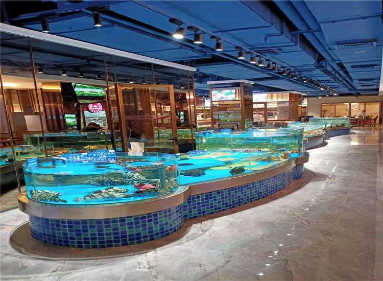 贵州酒店海鲜池玻璃材质定制 售后服务保证