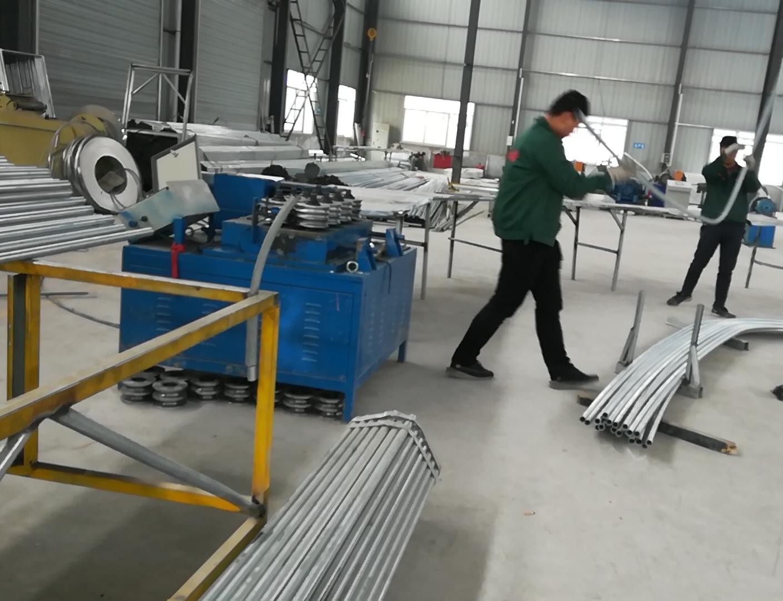 陕西大棚骨架厂  加工安装售后一体化公司