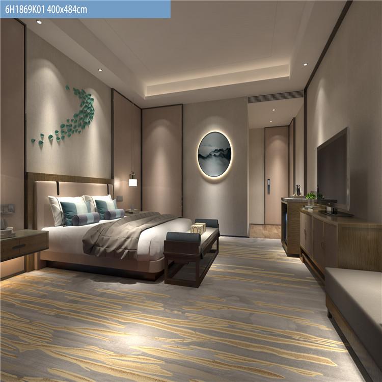 供应定制尼龙印花地毯 酒店走廊大堂客房地毯 密度450克-1400克
