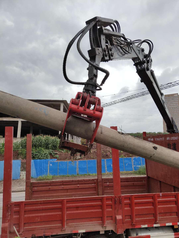赤水抓车 6.5米2节伸缩旋转抓机