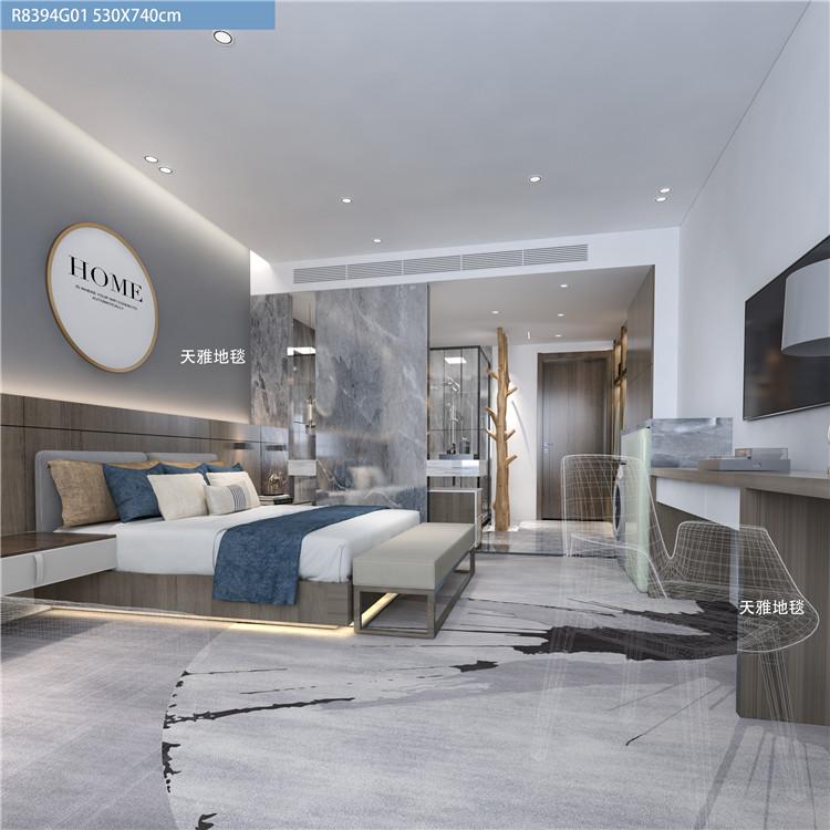 西安地毯拼接方块 卧室满铺房间客厅长方形写字楼简约网红地毯