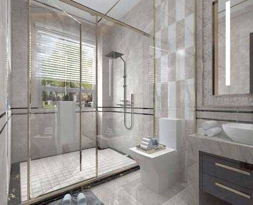 玻璃沐浴房定制 浴室玻璃隔断 钢化玻璃冲凉房 干湿分离玻璃隔断