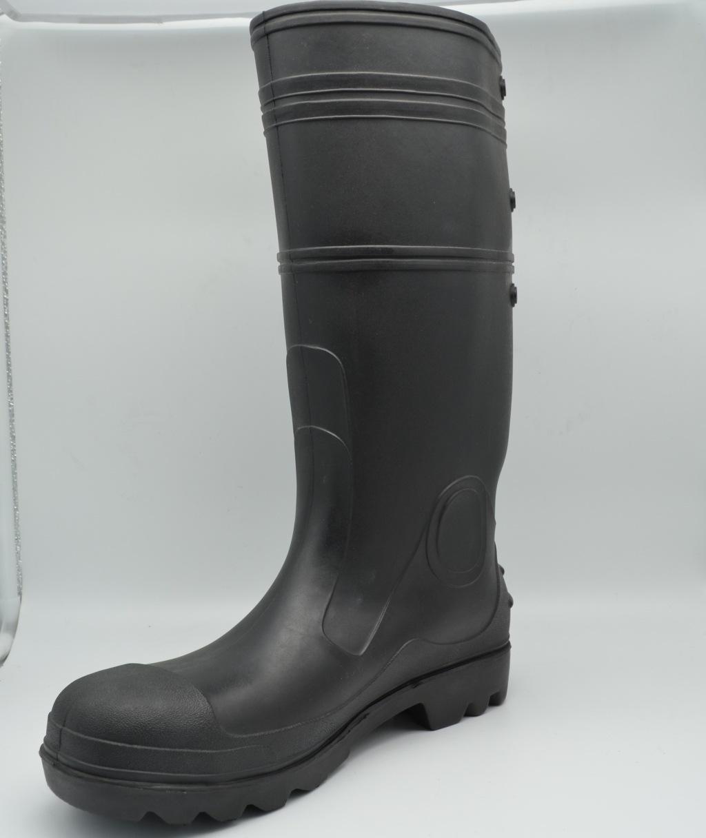 橡胶防滑雨鞋防雨靴 西安优质厂家现货供应雨靴 工地劳保雨靴批发