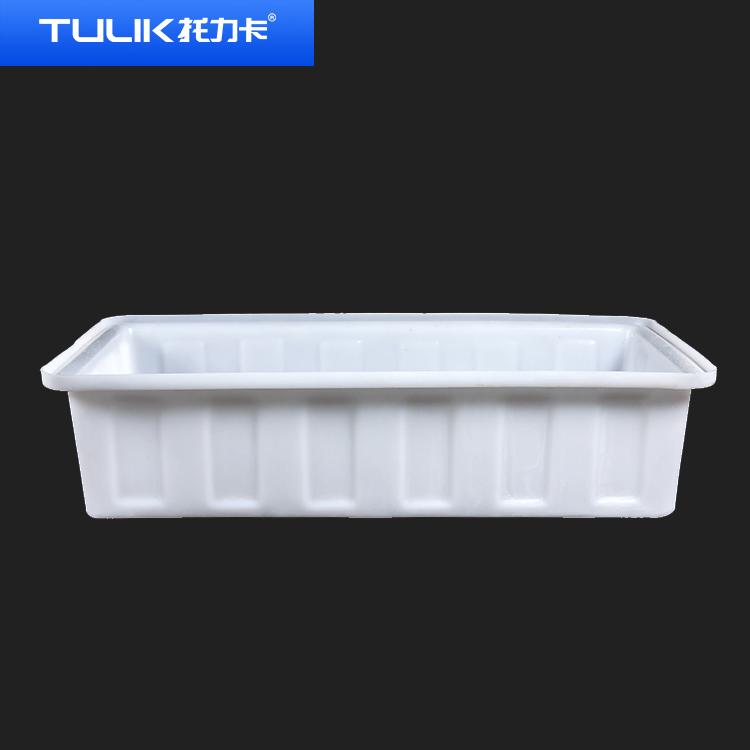 贵州加厚长方形塑料盆牛筋水箱食品级熟胶方盆卖鱼养龟养殖大号盆