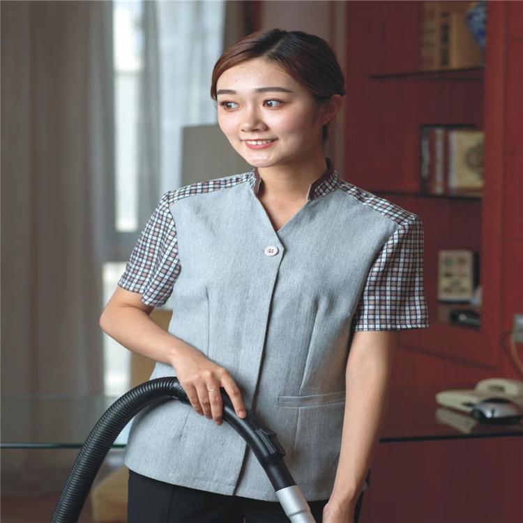 保洁工作服定制批发 酒店保洁服现货直销 西安商场夏季保洁服工厂