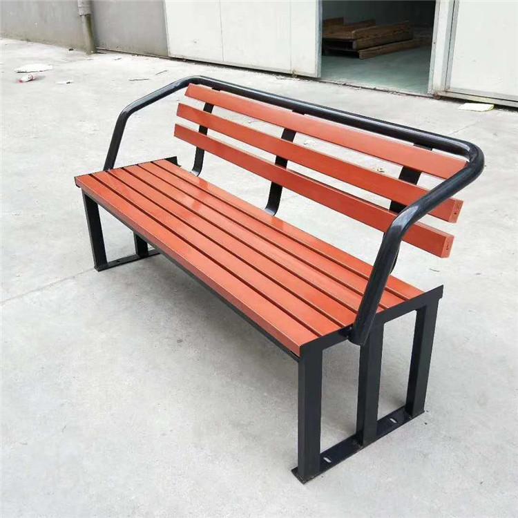 陕西塑木公园椅 防腐木长椅价格 铸铁休闲公园休闲椅