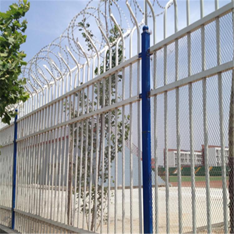 厂地围墙围栏 加厚锌钢围墙围栏 小区围墙栏杆 西安厂家现货