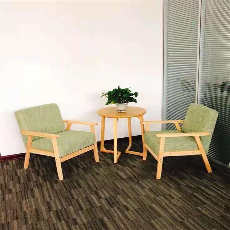 供应休闲办公沙发 诺新和 套装简约时尚三人位商务接待西皮沙发组合