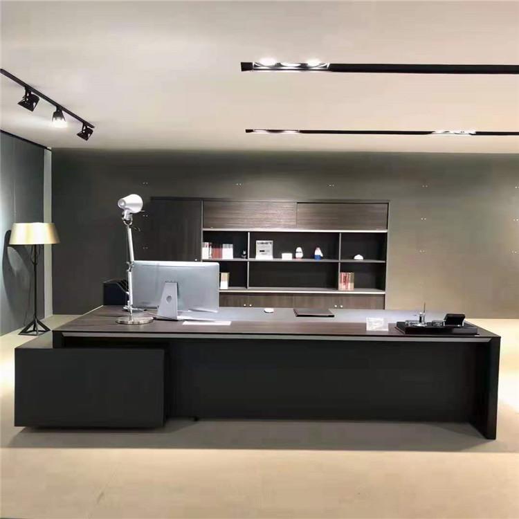 总裁总经理大班台书柜桌子2.4米