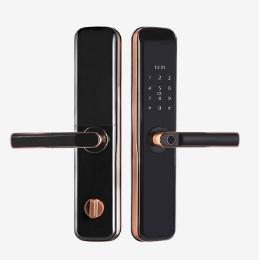 全自动智能指纹锁 半自动指纹锁  s2一握开指纹锁
