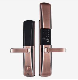 全自动智能指纹锁 半自动指纹锁   718滑盖指纹锁
